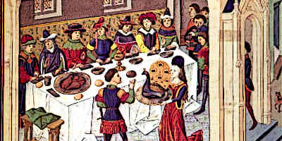 Medieval Banquet in France