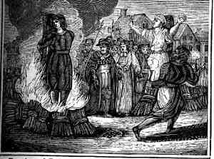 Witch burned at the stake