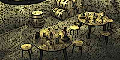 Medieval Drinks - Inside a medieval Inn