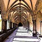 Cloisters Medieval Cathedral Norwich