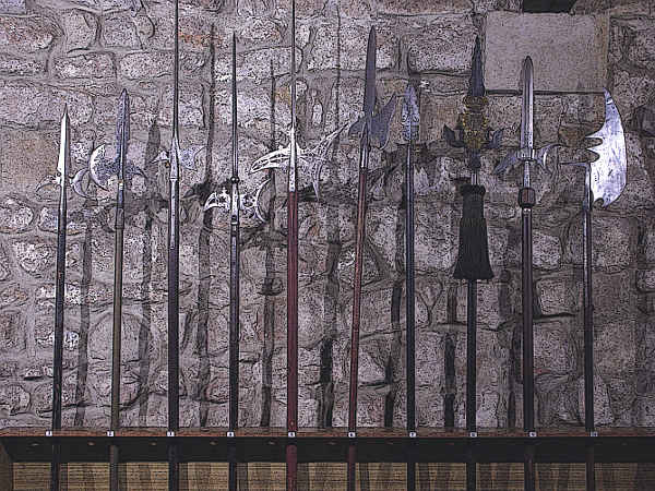 Collecton-of-Pole-Axe-Type-Weapons-and-Medieval-Halberd