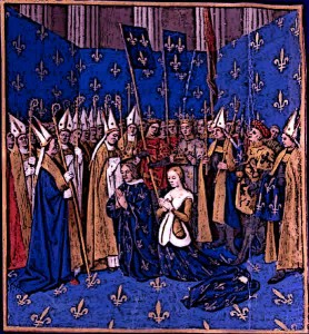 Suptuary-Laws-Royal-Colour-Blue-Coronation-of-Louis-VIII-and-Blanche-of-Castille