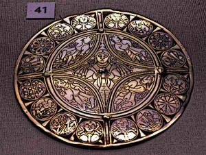 Anglo Saxon Art was characterised by it's use of vivid colours, Anglo saxons were experts with metalwork and renowned for the brooches such as the fuller brooch