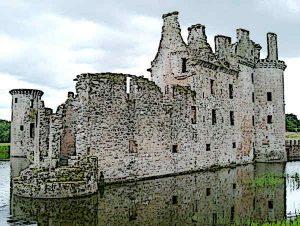 Caerlaverock Castle one of the finest Castles in Scotland